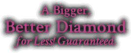 A Bigger, Better Diamond for Less! Guarenteed.